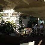 terrazza all'ultimo piano dell'hotel