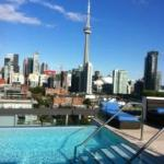 A most compelling view with a beautiful edgeless pool/rooftop bar.
