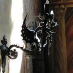 Iron dragon candles