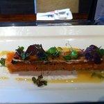 snow crab n salmon tartar
