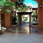 Walkway through hotel