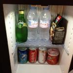 Free minibar in the penthouse room
