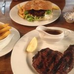 chop house burger and ribeye steak