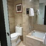 Large Tub and Shower in Bath-