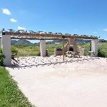 """Wonderful patio w/fireplace (Mgr. says """"no firewood"""")"""