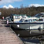 Boats docked at Battlebridge