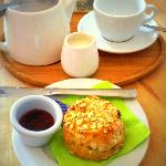 Muesli Scones and Suki Tea