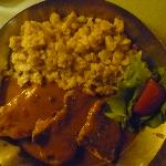 Pork medallions with peppercorn sauce and spaetzle