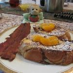 Amazing french toast with bacon