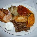 """Greek """"sampler"""" plate"""