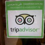 Our 'recommended on trip advisor sticker' on our door.