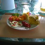 Fruit course of breakfast.