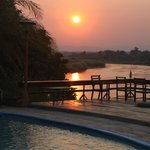 Sunset from the deck area over the Kafue River