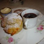 Delicious scone with Dorset clotted cream & strawberry jam