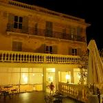 hotel del la plage by night