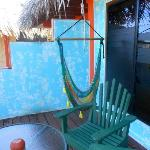 Hammock swing on the balcony