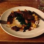 delicious venison and spinach in a rich sauce - from the à la carte