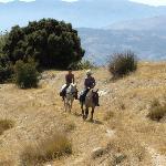 Horse-trekking above Casa del Viento