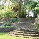 Garden step by wedding grounds