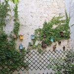 Cute collection of bird houses in the garden
