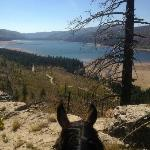 Day one ride, overlooking Vallecito Lake