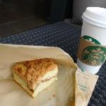 Coffee Cake and Coffee at Starbuck