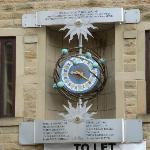The clock at Hebden Bridge