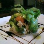 Yummy!.... crab/ avacado starter. Just look at this presentation!