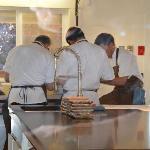 Willows Inn cooks prepare a dish