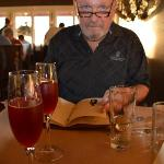 Bruce starts off with vodka and blackberry juice