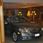 Our new Mercedes in the lobby