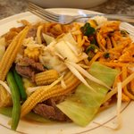 Pad Se-Ew, Thai Garden Beef & Red Curry Chicken