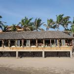 Looking at restaurant from beach