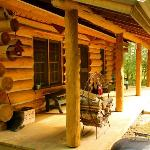 Porch of the Pinecrest Cabin Rental