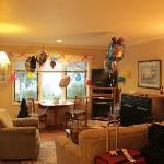 Our living space decorated for birthday