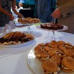Cookie table (incorporated from bride's ideas, in lieu of cake)