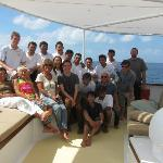 Crew and guests on Palegian