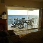 The gorgeous oceanfront lanai.