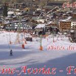 Vue des pistes en hiver
