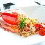 Canadian lobster with pasta