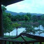 Vista desde el comedor sobre el lago