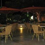 outdoor seating at veranda