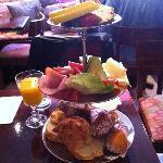 Breakfast is nicely presented