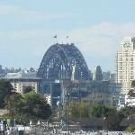 View of the Harbour Bridge from 7th floor room
