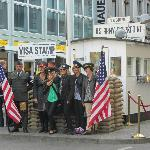 Check Point Charlie...very touisty but GREAT place for coffee and sweets. Thanks Espin!