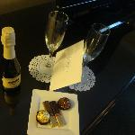 Treats to celebrate our anniversary. Wow, they aim to please!