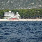 View of hotel from a boat in the bay