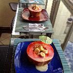Colazione: papaya con banane