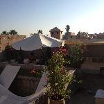 Roof terrace for breakfast
