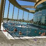 Uno scorcio delle piscine esterne
